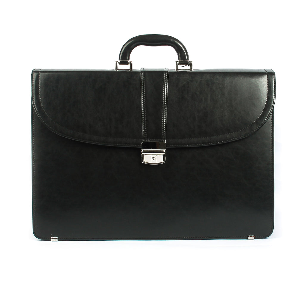 The Howell - 17 Inch Leather Large Briefcase - Blaxton