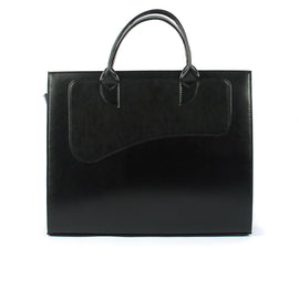The Elayne 15 Inch Leather Ladies Business Bag in Black Colour - Blaxton