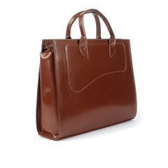 Ladies Leather Smart Handbag in Light Brown Colour