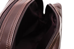 Blaxton Brown Leather Mens Toiletry Bag