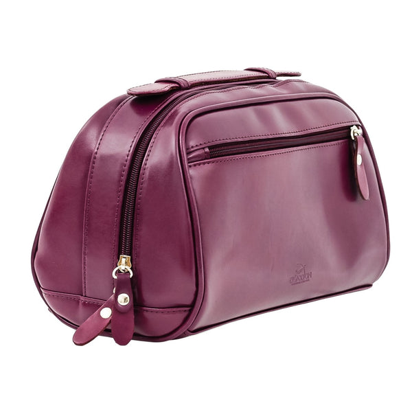 The Fonda - Purple Leather Ladies Cosmetic Case