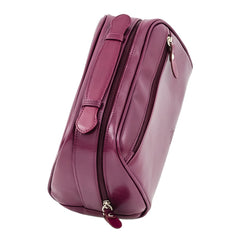 The Fonda - Purple Leather Ladies Cosmetic Case - Blaxton
