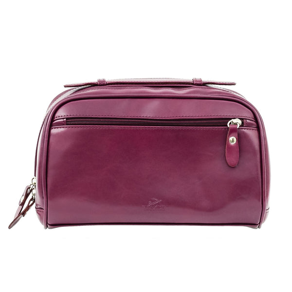 Purple Leather Cosmetic Case