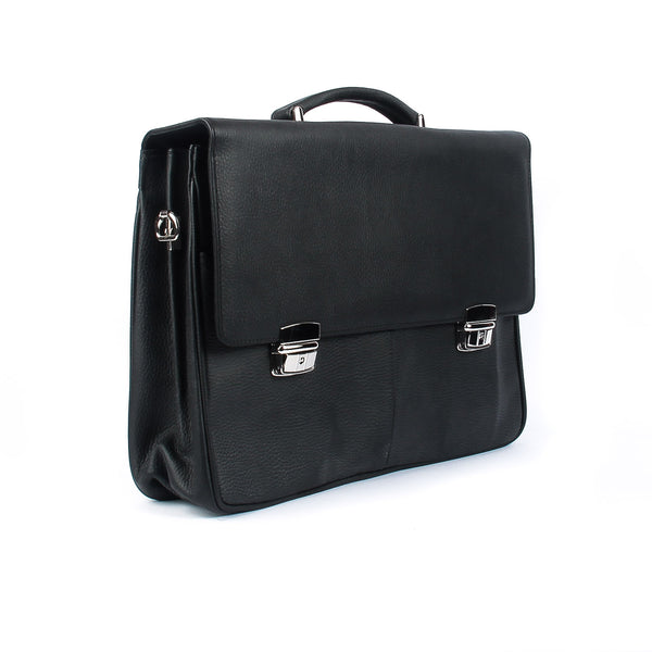 The Hansford - 16 Inch Leather Large Messenger Bag | Soft Briefcase
