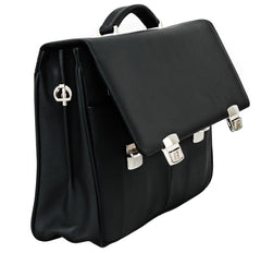 Soft Leather Black Business Bag