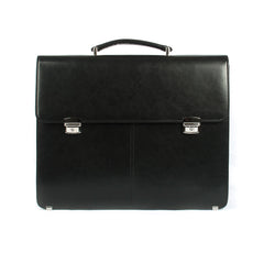 Genuine Leather Black Business Briefcase