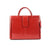 The Suelee 14 Inch Lacquered Leather Ladies Briefcase Style Handbag