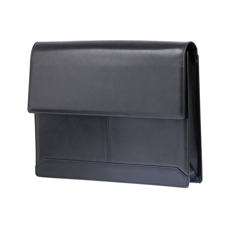 Black Genuine Leather Document Sleeve