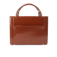 Ladies Leather Work Bag in Cognac Colour