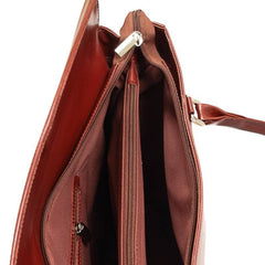 Ladies Leather Handbag in Cognac Colour