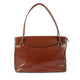 The Hollis 16 Inch Genuine Leather Ladies Smart Tote Bag in Cognac Colour