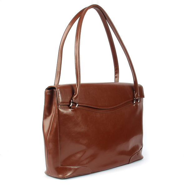 fca33a830bd5 Ladies Leather Handbag in Cognac Colour The Hollis 16 Inch Genuine Leather  Ladies Smart Tote Bag in Cognac Colour