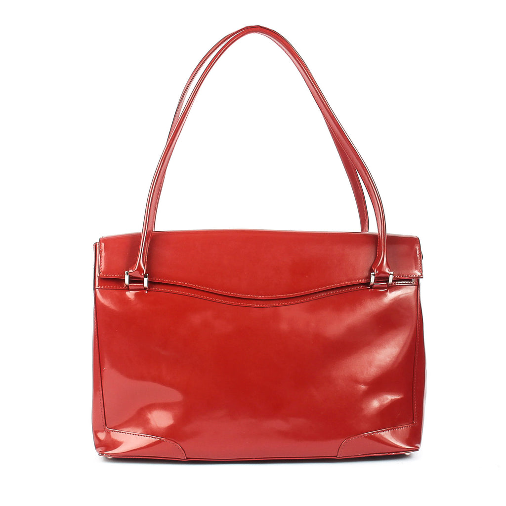 Womens Leather Smart Work Tote Bag