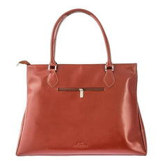 Cognac Leather Tote Bag from Blaxton