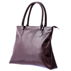 Dark Brown Leather Tote Bag from Blaxton