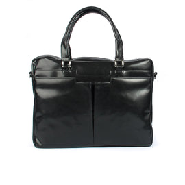 Black Leather Business Bag From Blaxton