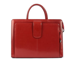 The Suellen 16 Inch Lacquered Leather Ladies Briefcase Bag