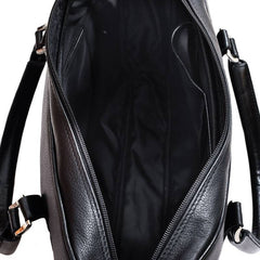 Black Genuine Leather Bag From Blaxton