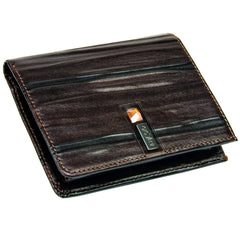 Genuine Leather Mens Wallet with Swarovski Crystal - Blaxton