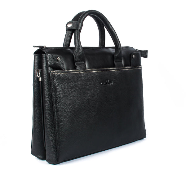 Giovani Leather Business Unisex Handbag