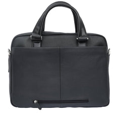 Giovani Leather Business Unisex Work Handbag - Blaxton