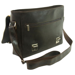 Small Brown Leather Messenger Bag