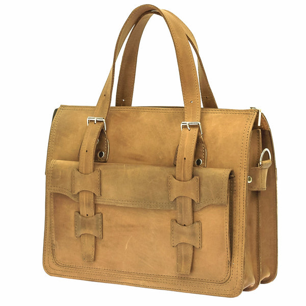 The Toria - Leather Unisex Satchel Bag