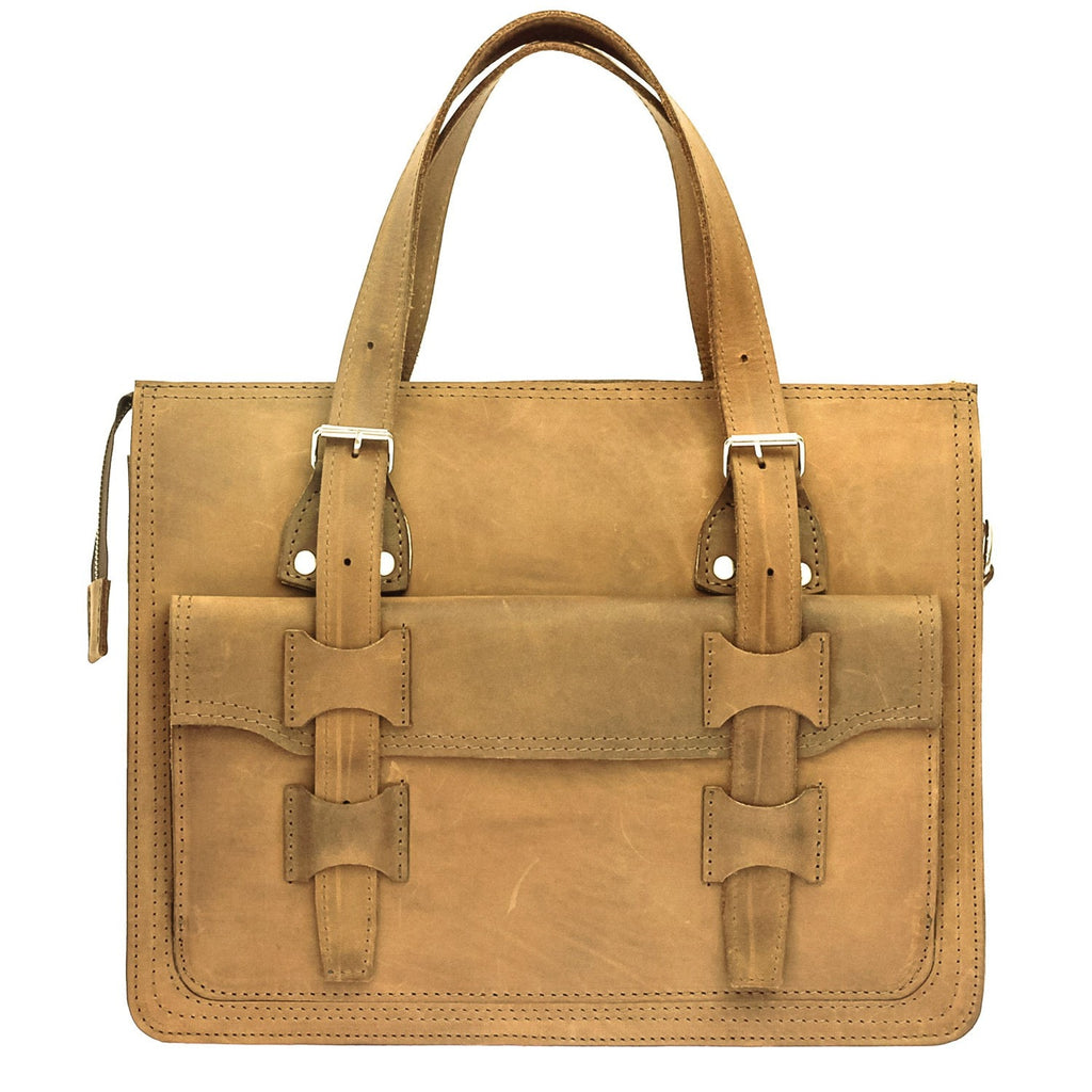 The Toria - Leather Unisex Satchel Bag - Blaxton