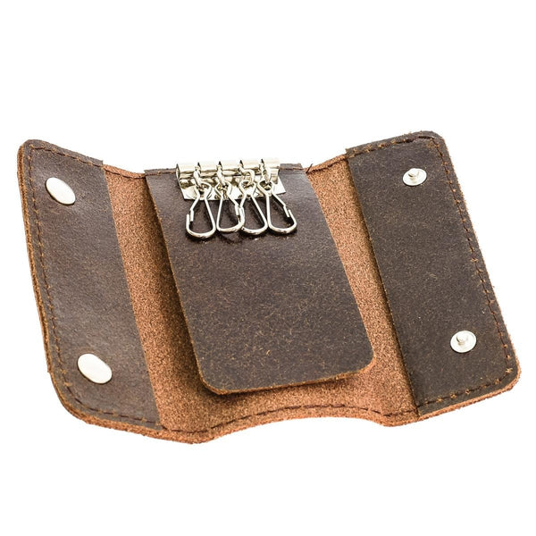 Waxed Cowhide Leather Key Holder Wallet from Blaxton