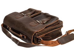 Blaxton Leather Messenger Bag