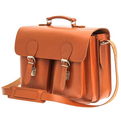 The Birkeland  - 16 Inch Leather Large Satchel Bag | Backpack - Blaxton