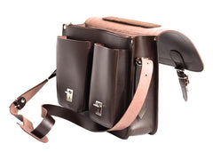The Bossa  - 15 Inch Leather Satchel Bag | Backpack - Blaxton