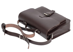 Dark Brown Leather Satchel Backpack from Blaxton