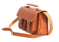 Light Brown Leather Ladies Small Satchel from Blaxton
