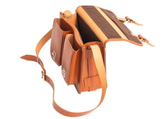 Brown Leather Ladies Small Satchel from Blaxton