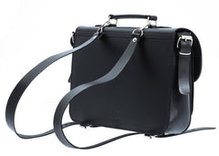 The Evely - 13 Inch Leather Satchel Bag | Backpack - Blaxton