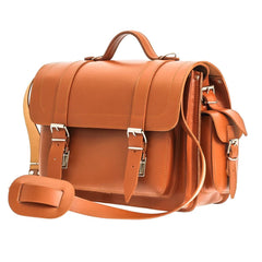 The Helland  - 14 Inch Leather Satchel Bag | Backpack - Blaxton