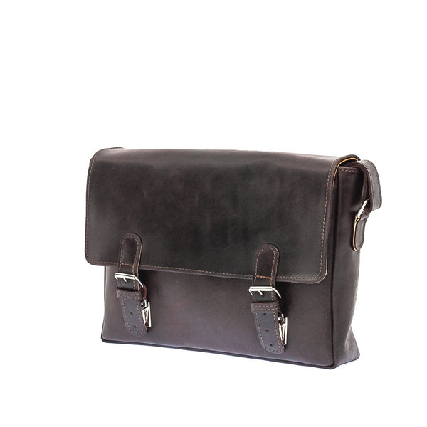 The Sander - Leather Mid Size Messenger Bag
