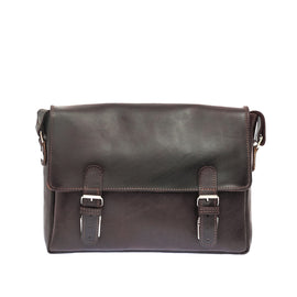 The Sander - Leather Mid Size Messenger Bag - Blaxton