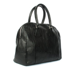 Ladies Black Calf Leather Elegant Work Tote Bag