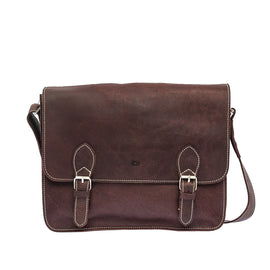 The Padrig - Leather Messenger Bag - Blaxton