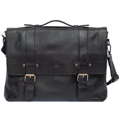 The Myrddin - Leather Messenger Briefcase Bag - Blaxton