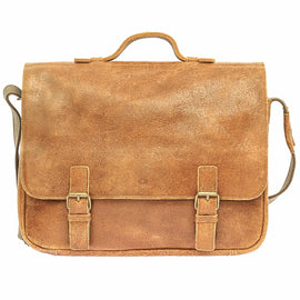 The Arvel - Leather Messenger Laptop Bag - Blaxton
