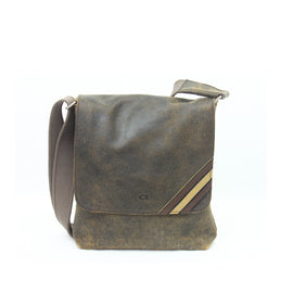 The Garth - Leather Messenger Bag - Blaxton
