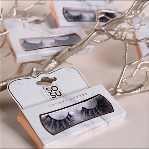 SOSU by SJ Luxury Lashes. 3D synthetic fibre cruelty free and reusable lashes.