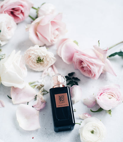 SOSU by SJ Parfum d'amour. A floral and fragrance scent with top notes of rose and jasmine that exudes romance.