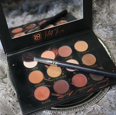 SOSU by SJ Hot Fire Eyeshadow Palette. 12 fiery shades for the perfect smoky eye!