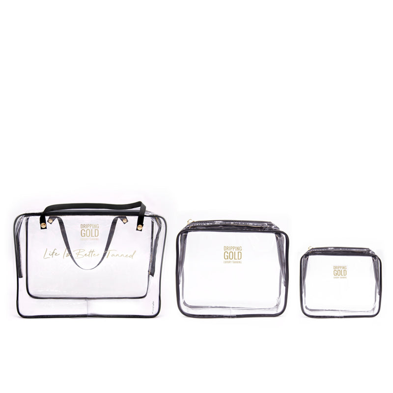 Dripping Gold Three Piece Travel Bag