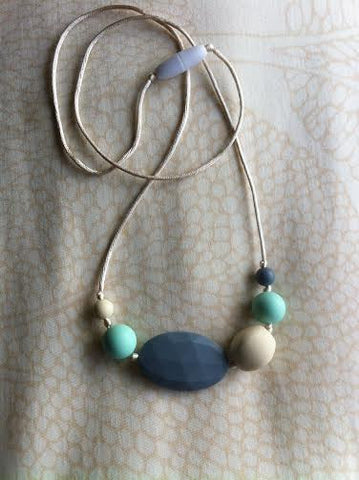 Sweet and Simple, Teething Necklace - Grey, Mint & Cream