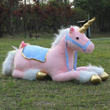 Unicorn Plushie (Lying Down - 85cm Hard Type)